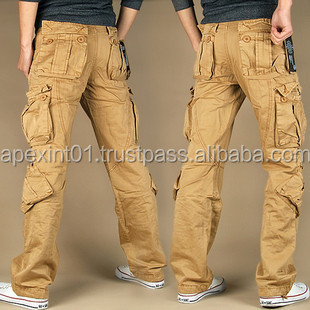 Hot Sale Pure Cotton Heavy Washed Military Style Cargo Pants For ...