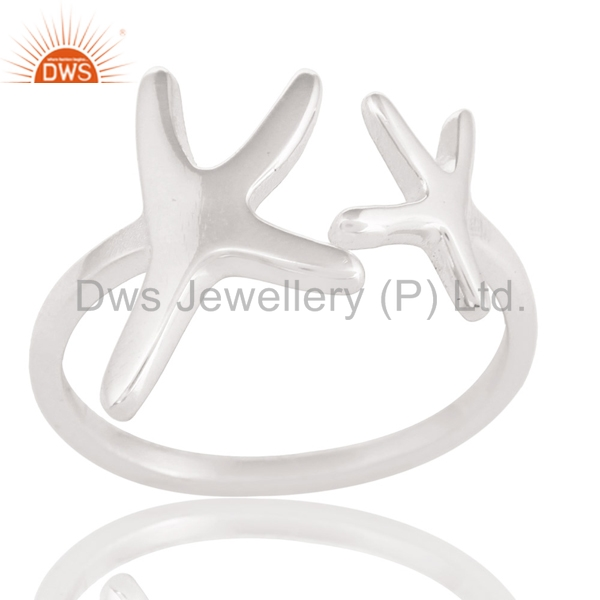 Star Designer Sterling Plain Silver Rings Handcrafted Girls Party Rings Jewelry Manufacturers