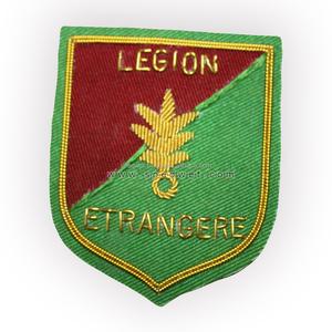 French army foreign legion entrangere bullion wire pocket blazer badges