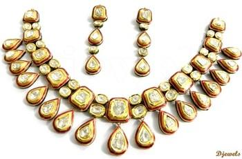 22K Kundan Polki Necklace sets 22K Gold Kundan Polki Necklace Sets
