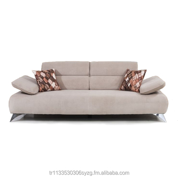Modern Triple Sofa With Movable Arms