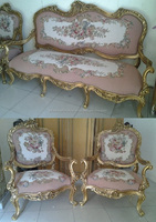 French Aubusson Tapestry Salon Set