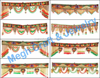 Indian Home Decorative Toran Wholesale Crystal Beaded Door