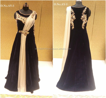 7bc3f534b66b Shop Wedding Wear Velvet Gown Online - Buy Dresses Online