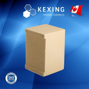 Aluminum Porcelain Honeycomb ceramic heat exchanger for RTO RCO