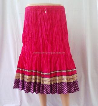 af75c1fc0 Silk Brocade Designer Ladies Skirts Online - Buy Indian Girls ...