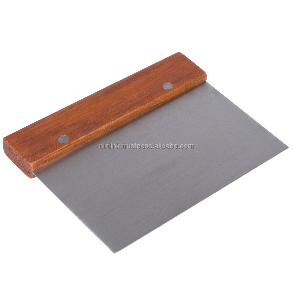 Wood Handle With Stainless Steel Blade Dough Scraper & Cutter ...