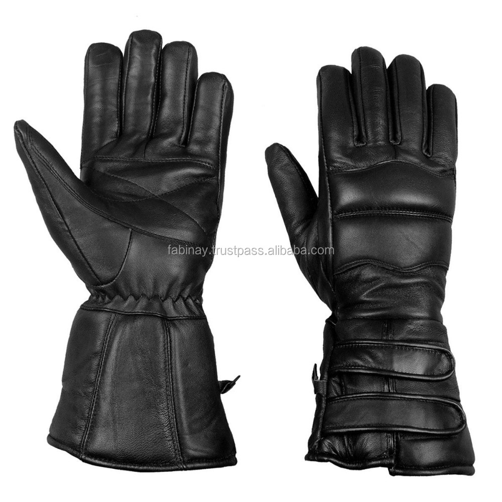 Sheep Leather Winter Motorcycle Biker Riding Gloves