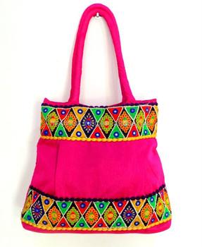 Pink Designer Ethnic Banjara Vintage Tribal Beaded Handbags Whole Indian Traditional Bags Patch Work