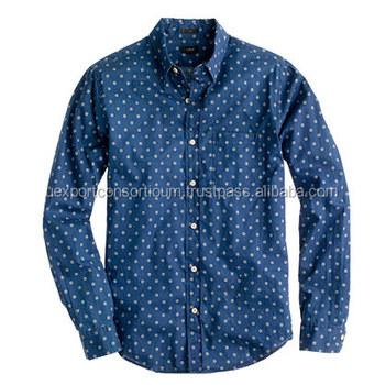 a7184e65f1a Latest Fashionable Designer Printed Denim Shirt For Mens - Buy ...