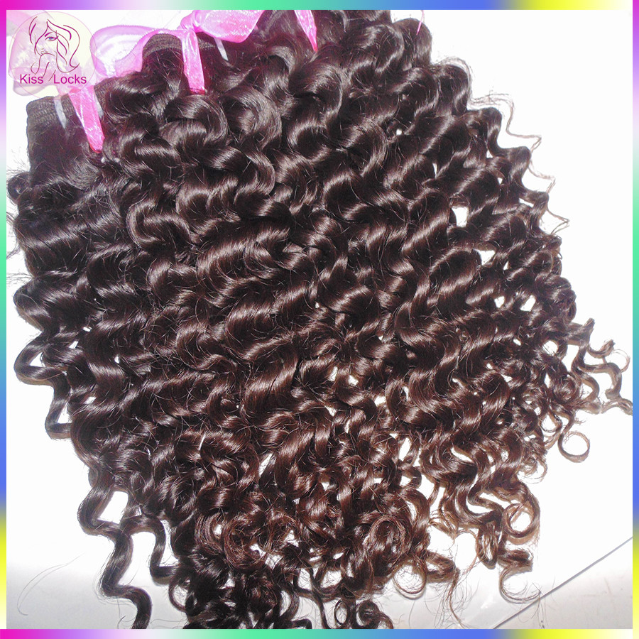 10A Beauty Supplier Afro Italian Curly Weave 100% Virgin Malaysian Human Hair Permanent Curls Natural Dark Brown #1B