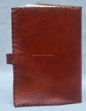 Handgemaakte Vintage Look Plain Soft Leather <span class=keywords><strong>Dagboek</strong></span> Journal Riem Lock Patroon.