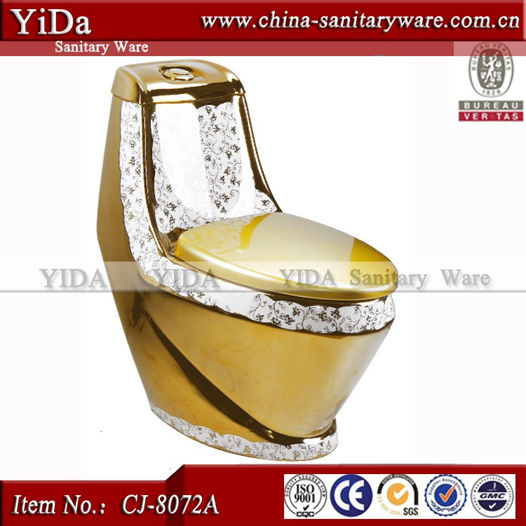 Russian Gold Plated Toilet One Piece Toilet Prices Ceramic