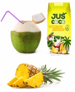 Natural coconut milk with Pineapple flavor