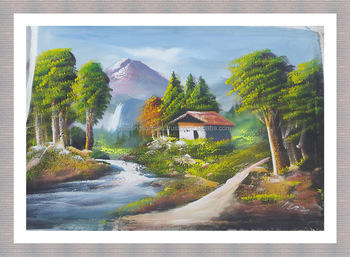 Beautiful Scenery Wall Painting Handmade Natural Scenery Painting Buy Beautiful Scenery Wall Painting Scenery Background Handmade Natural Scenery