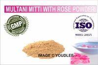 100% pure natural, multani mitti Powder with rose extact Glowing Face Pack Smoothen Skin