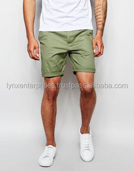 8745180c2c Slim Chino Shorts In Light Green / Light Green Chino Shorts / end Folded  Chino Shorts