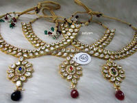 Indian Kundan necklace set- Indian bridal jewelry