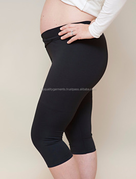 Black Leggings Maternity Tights Knee Length Ladies Girls Women Yoga Pants Print Fitness Workout Basic Cheap Oem Odm Customize Buy Ladies Custom