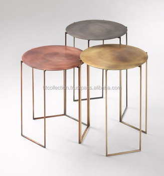 Genial Iron Industrial Wooden Bar Stools Side Table With Stool Wood Top Table Metal  Accent Stool