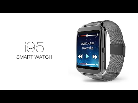 i95 Smart Watch Android 4.3 Call Reminder WiFi Heart Rate Monitor Bluetooth IP65 4GB Smart Watch