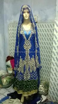 d501c92ef48ad Royal Blue Muslim Bridal Wedding Anarkali Dress 2016-2017 - Buy ...