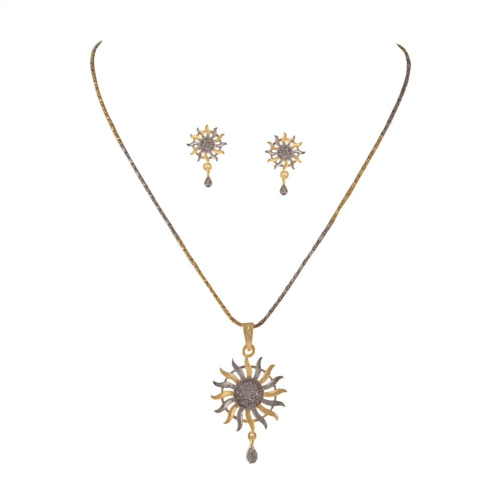 gold metallic product necklace golden lyst pendant sun in long normal jewelry asos