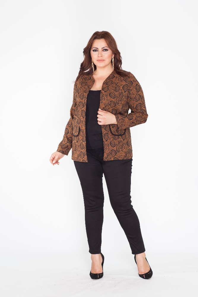 luxury wholesale plus size pie de poule woman jacket - buy
