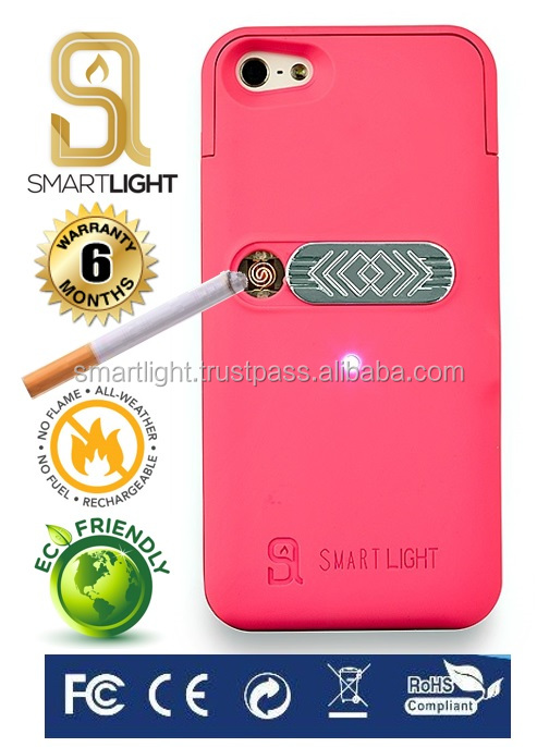 Fuchsia case for iPhone 4 4S with ecological cigarette lighter best price