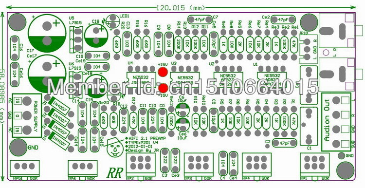 ome audio video equipments amplifiers 2 1 preamp ne5532 subwoofer installation diagram jeep wrangler subwoofer wiring diagram