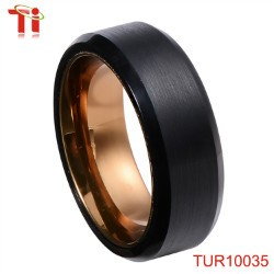 Blue Tungsten Ring Tungsten Wedding Band Tungsten Carbide Ring 6mm Tungsten Band Blue Ring Comfort Fit