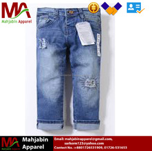 New Design Boys Jeans Trousers Fashion Custom Denim Jeans Pants For Kids