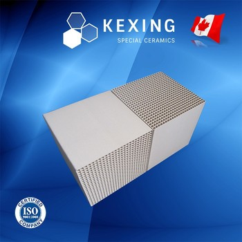 Compound of Cordierite and Mullite Honeycomb ceramic heat exchanger for RTO RCO
