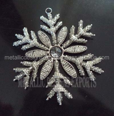 Metal snow flakes