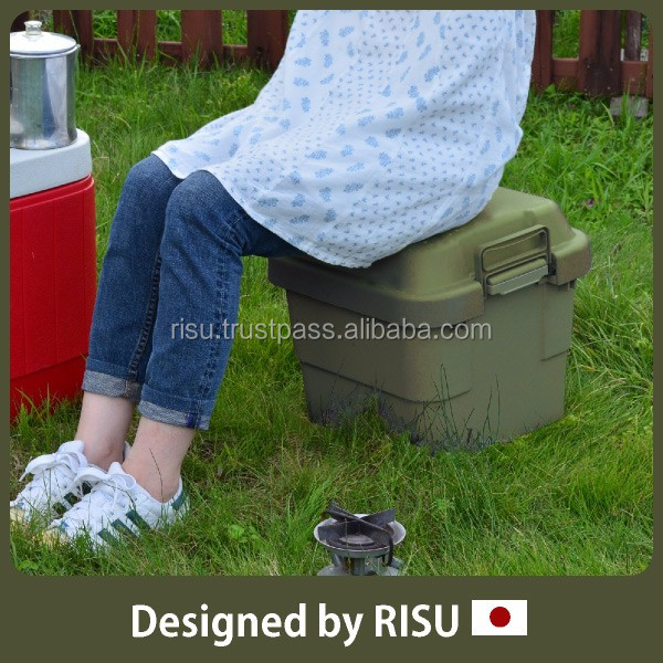 Functional and High-capacity outdoor plastic chair storage container with lid at reasonable prices 3 sizes available