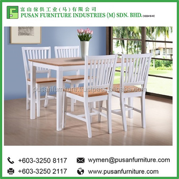Best Quality Wooden Dining Table Waka 5 Pieces Chairs Set Furniture Made In Malaysia