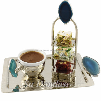 Turkish Coffee Cup Set, Nespresso Cup, Arabic, Turkish Coffee, Hajar, Gemstone, Natural Stone Saucer, High Tea and Coffee, Agate
