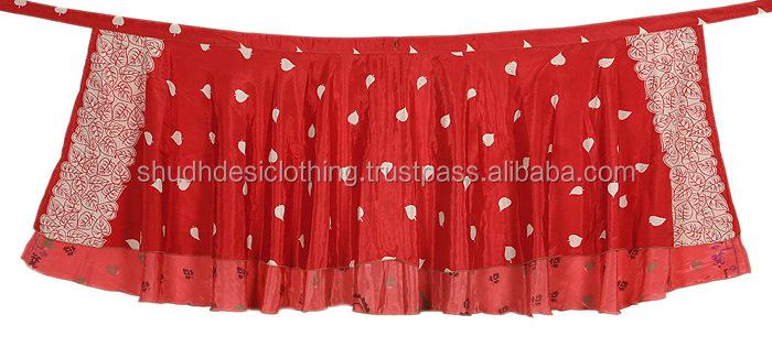 ff9c9bc57c8a8 Buy Floral Printed Indian Wrap Skirts Wholesale Silk Sari Magic Skirt Lot