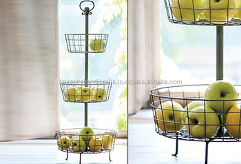 Etonnant COUNTER TOP FRUIT STAND, Three Tier Metal Wire Fruit Stand, Decorative Kitchen  Fruit Stand