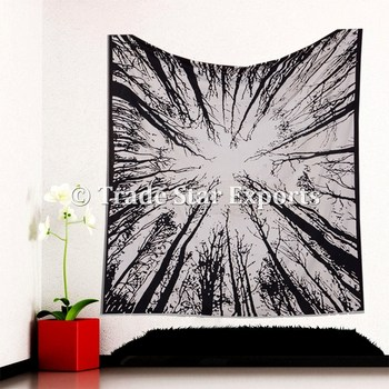 Bohemian Indian Large Urban Tree Wall Art Psychedelic Wall Decor Hippie Wall Hanging Tapestry Buy Tapestry Wall Hanging Black Cotton Urban Bohemian