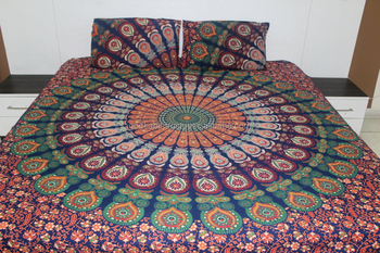 Beautiful Block Printed Bed Sheet /bed Spread Hippie Mandala Indian on gold bed sheets, bush bed sheets, peace bed sheets, cross bed sheets, easter bed sheets, crystal bed sheets, indian bed sheets, alchemy bed sheets, majestic bed sheets, man bed sheets, bug bed sheets, moroccan style bed sheets, science bed sheets, circle bed sheets, drawing bed sheets, painting bed sheets, buddha bed sheets, ankh bed sheets, starfish bed sheets, dream bed sheets,
