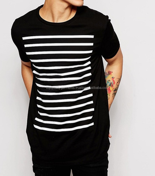 Stripes Printed T Shirt 100 Cotton Boys Mens Cool Tee Fashion Trend Quality New 2019 Design Shirt Oem Odm Customize Loose View Affordable Wholesale High End Men T Shirt Oem Product Details From Mallika