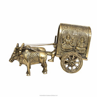 Brassware Bullock Cart For Home Decoration for gift & craft