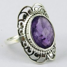Lavender Dream !! Purple Amethyst 925 Sterling Silver Ring, 925 Silver Ring For Beautiful Fingers, Exporter And Wholesaler