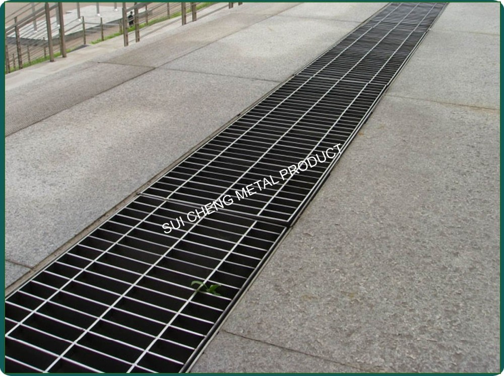 Swimming Pools Cover Trench Drain Channel Stainless Steel