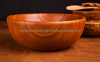 big wooden salad bowl large soup bowl eco friendly from vietnam