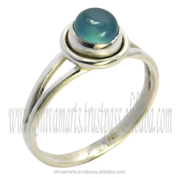 Popular fashion blue gemstone unique design women's 925 sterling silver jewelry manufacturer