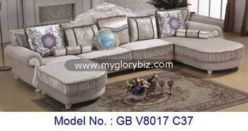 Classic u shape royal wooden fabric sofa set luxury living for Classic sofa malaysia
