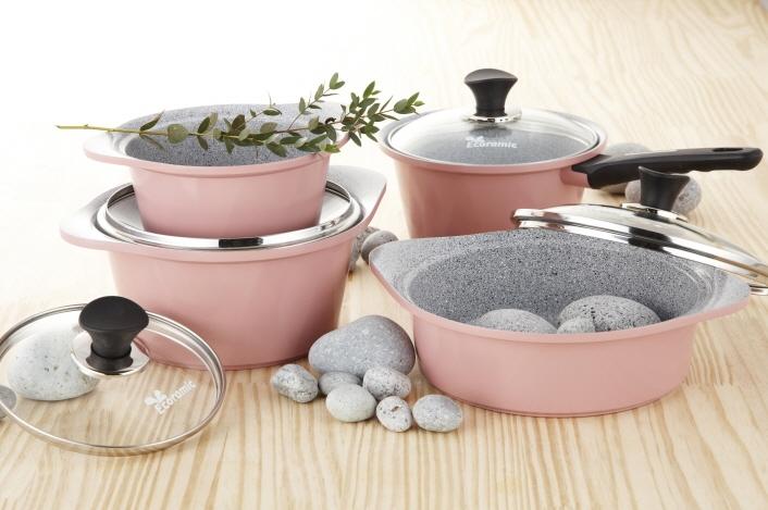 Ecoramic marmol de cer mica utensilios de cocina juegos de for Utensilios de cocina de ceramica