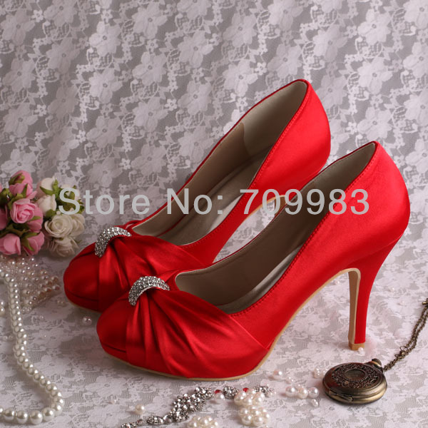 57d28a5da70 Wholesale Custom Handmade Pump Elegant High Heeled Bridal Shoes ...